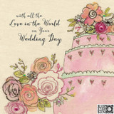 Special Wedding Day Floral Greeting Card - Blue Eyed Sun