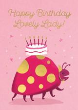 Lovely Lady Cute Birthday Card - Stormy Knight