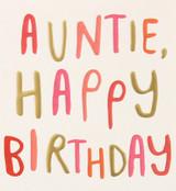 Brilliant Auntie Greeting Card - Caroline Gardner