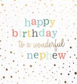 Happy Birthday to a Wonderful Nephew Greeting Card | Caroline Gardner