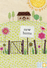 New Home Collage Greeting Card - Blue Eyed Sun
