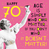 Happy 70th! | Funny Birthday Card | Pigment Productions