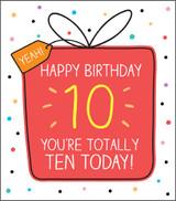 10th Birthday Card Happy Jackson - Pigment Productions