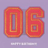 6th Birthday Sequin Card - Redback Cards