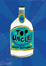 Cheers Top Uncle Birthday Card - Rachel Ellen