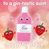 Gin Tastic Aunt Greeting Card - Mint Publishing