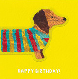 Fantastic Sausage Dog Birthday Sequin Card - Redback Cards
