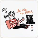 La Vie en Rose | Cork Coaster | Gemma Correll