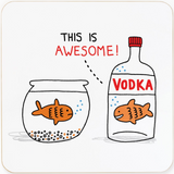 This is Awesome Vodka | Cork Coaster | Gemma Correll