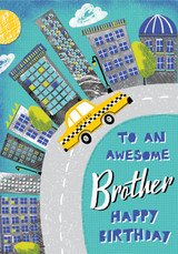 Awesome Brother Birthday Card - Rachel Ellen