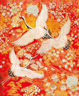 V &A detail from a wedding outer-kimono (uchikake) Woven Silk | Museum & Galleries