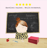 Thank you Teacher Greeting Card - Rosie Made a Thing