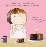 Cake for Breakfast Greeting Card - Rosie Made a Thing
