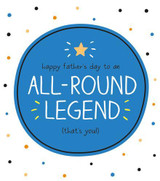 All Round Legend Greeting Card Happy Jackson - Pigment Productions