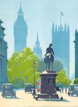 Transport For London Houses of Parliament  Greeting Card | Museum & Galleries