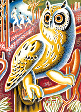 Transport For London Heath Owl | Greeting Card | Museum & Galleries