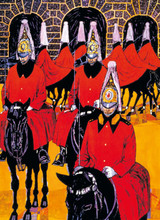 Transport For London Horse Guards | Greeting Card | Museum & Galleries