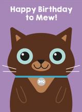 Happy Birthday to Mew  Greeting Card - Mint Publishing