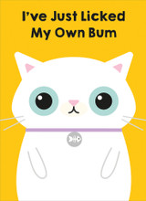 Just Licked own Bum Greeting Card - Mint Publishing