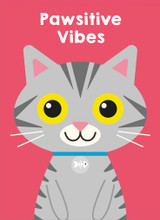 Pawsitive Vibes Greeting Card - Mint Publishing