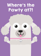 Where's The Pawty? Greeting Card - Mint Publishing