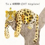 Grrr-eat Nephew   Greeting Card   The Wonky Tree