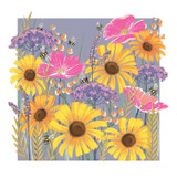 Floral Contemporary Dragonfly Birthday Cards - Rachel Ellen