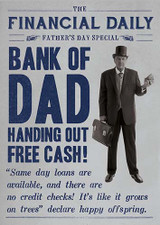 Bank of Dad - Fathers Day Card - Pigment Productions
