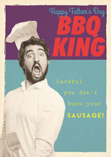 BBQ King - Fathers Day Card - Pigment Productions