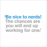 Be Nice to Nerds Greeting Card - Icon Art Company