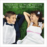 Happiness is being married Birthday Card - Icon Art