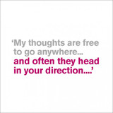 My Thoughts are Free   Greeting Card   Icon Art