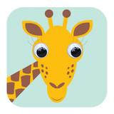 Giraffe Wobbly Eyes Childrens Birthday Card - Stripey Cats