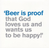 Beer is Proof Greeting Card - Icon Art Company