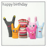 Birthday Gove Puppets Greeting Card - Icon Art Company
