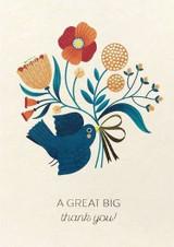 Thank You Bird Greeting Card - Stormy Knight