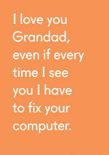 I Love you Grandad | Greeting Card