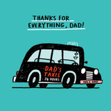 Gemma Correll Dad Taxi Quirky Greeting Card - The Wonky Tree