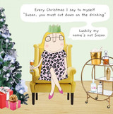 Susan Funny Christmas Card - Rosie Made a Thing