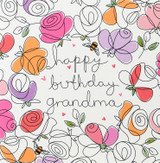 Lovely Grandma Greeting Card | Belly Button Design
