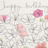 Birthday Flowers Greeting Card   Belly Button Design