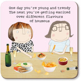 Houmous Funny Coaster - Rosie Made a Thing