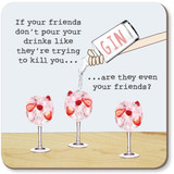 Friends Funny Coaster - Rosie Made a Thing