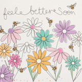 Get Well Soon Greeting Card   Belly Button Designs