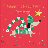 Christmas Sausage Charity Card Pack - Belly Button Design