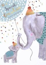 Elephant Grandson Greeting Card - Louise Tiler