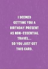 Non Essential Birthday Card - Stormy Knight