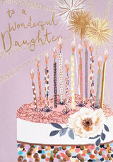 Wonderful Daughter  Greeting Card - Louise Tiler