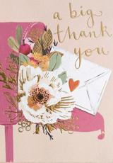 Thank you  Greeting Card - Louise Tiler
