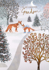 Amazing Grandson Christmas Card - Louise Tiler